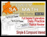 Daily SAT Math Practice Week 5: Simple Interest Compound Interest