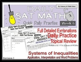 Daily SAT Math Practice Week 6: Inequalities