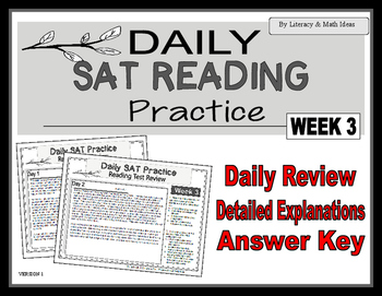 Daily SAT Reading Practice Week 3