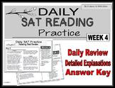 Daily SAT Reading Practice Week 4