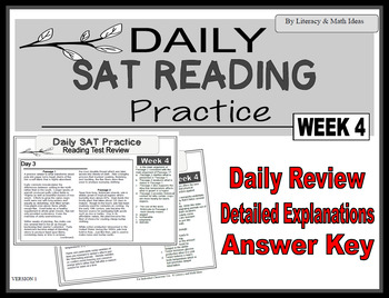 Daily SAT Reading Practice Week 4