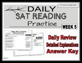 Daily SAT Reading Practice Week 5
