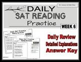 Daily SAT Reading Practice Week 6