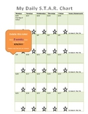 Daily STAR Chart Calendar for 2014-15 School Year