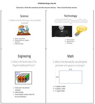 Daily STEM Bell Ringers 1.1