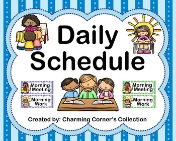 Daily Schedule~Full Size, 3/4 Size, & Editable