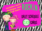 Daily Schedule Analogue and Digital Clock Cards