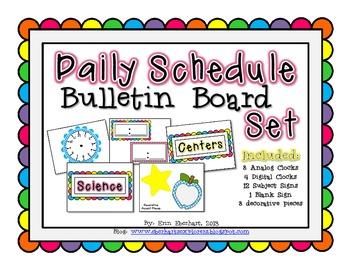 Daily Schedule BB Set