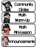 Daily Schedule Bilingual Class
