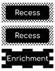 Daily Schedule - Black & White PDF