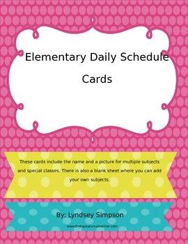 Daily Schedule Bulletin Board