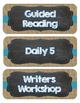 Daily Schedule (Burlap and Chalkboard Design)