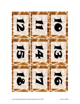 Daily Schedule Calendar Cards-93pc-Giraffe