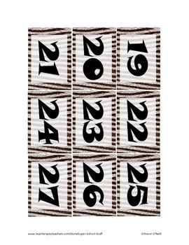 Daily Schedule Calendar Cards-93pc-Zebra
