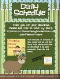 Daily Schedule - Camping theme - editable