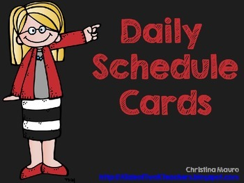 Daily Schedule Cards {Editable Times}