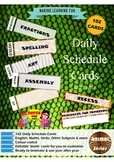 Daily Schedule Cards-102pc-Animal Series