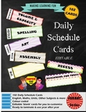 Daily Schedule Cards-102pc-Sunray Series