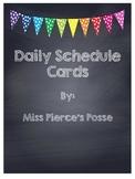 Rainbow Polka Dot Chalkboard Schedule Cards