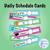 Daily Schedule Cards - Chevrons