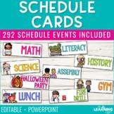 Schedule Cards | Editable