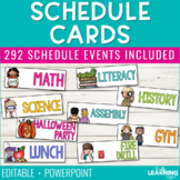Schedule Cards | Editable