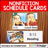 Daily Schedule Cards with Real Photos & Editable