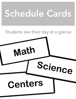 Daily Schedule Cards