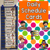 Daily Schedule Cards- Colorful Dots