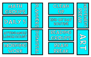 Daily Schedule Cards | EDITABLE