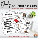 Daily Schedule Cards (Boardmaker Symbols)