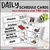 Daily Schedule Cards (Boardmaker Symbols)