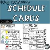 Daily Schedule Cards (Editable)