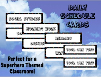 Daily Schedule Cards -  Back to School