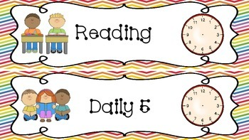 Daily Schedule Cards (Back to School Freebie)