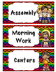 Daily Schedule Cards- Black and Bright Chevron