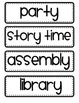 Daily Schedule Cards (Black and White)