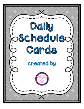 Daily Schedule Cards--Blue Font Color
