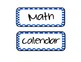Daily Schedule Cards - Blue Polka Dots