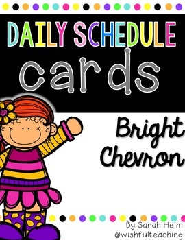 Daily Schedule Cards--Bright Chevron
