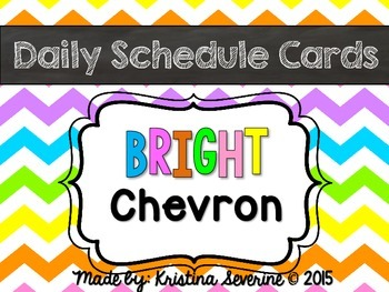 Daily Schedule Cards {Bright Chevron}
