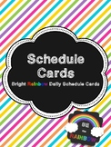 Daily Schedule Cards - Bright Rainbow