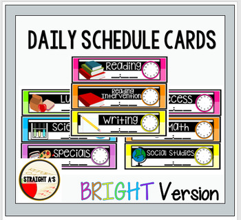 Daily Schedule Cards { Bright Version }