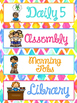 Daily Schedule Cards Bright and Bold Themed | Classroom Decor
