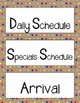 75 Daily Schedule Cards [Brown Paper & Sharpie]