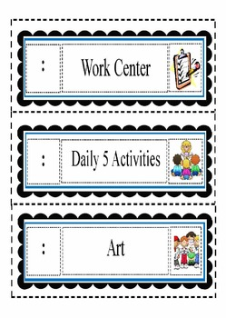 Daily Schedule Cards-Bundled