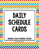 Daily Schedule Cards - Chevron Stripes
