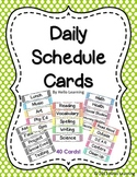 Daily Schedule Cards- Colorful Polka Dots