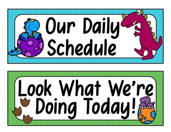 Daily Schedule Cards (Dinosaur Theme)