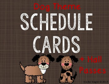 Daily Schedule Cards - Dog Theme